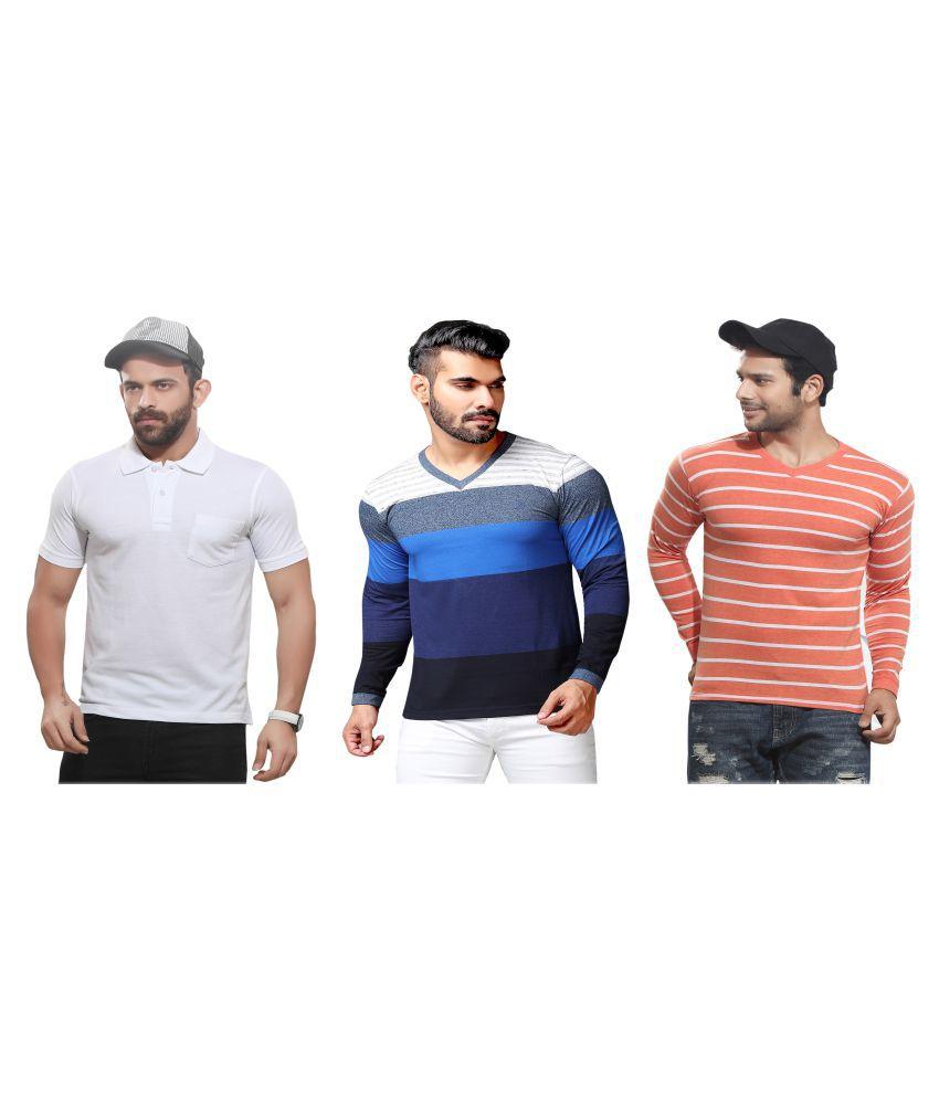 KUNDAN SULZ GWALIOR White Full Sleeve T-Shirt Pack of 3