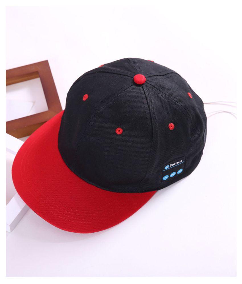 Kamalife Red Plain Cotton Caps
