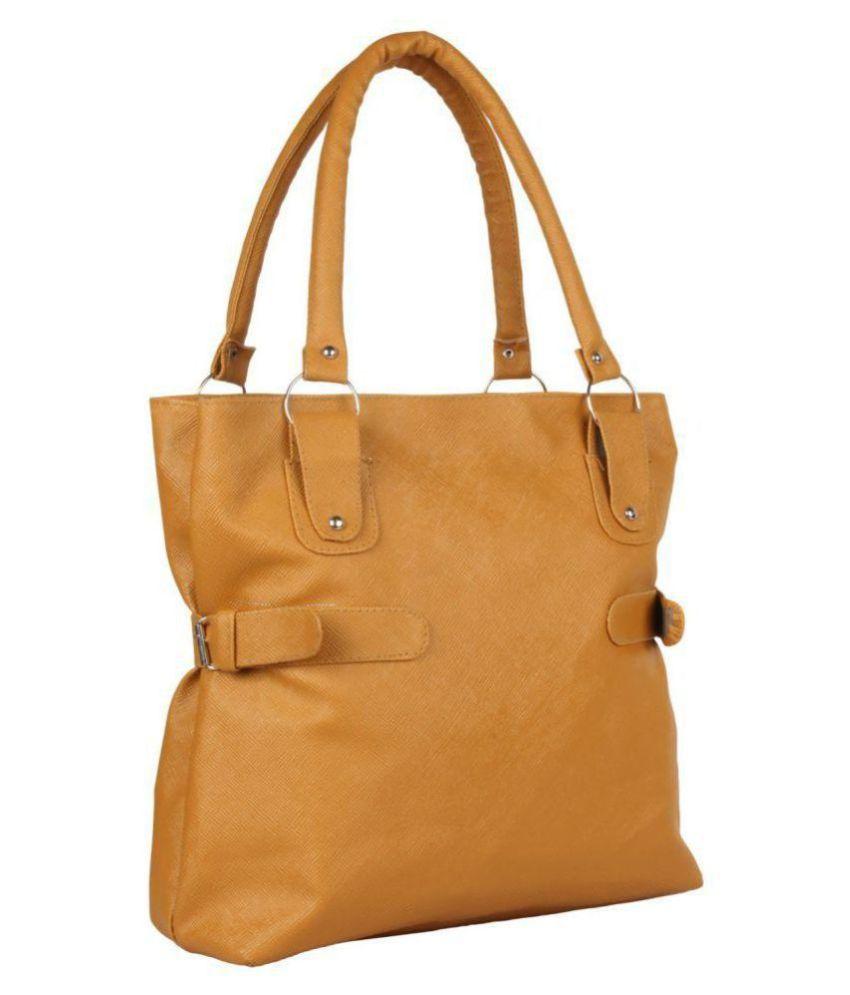 Parrk Golden P.U. Shoulder Bag