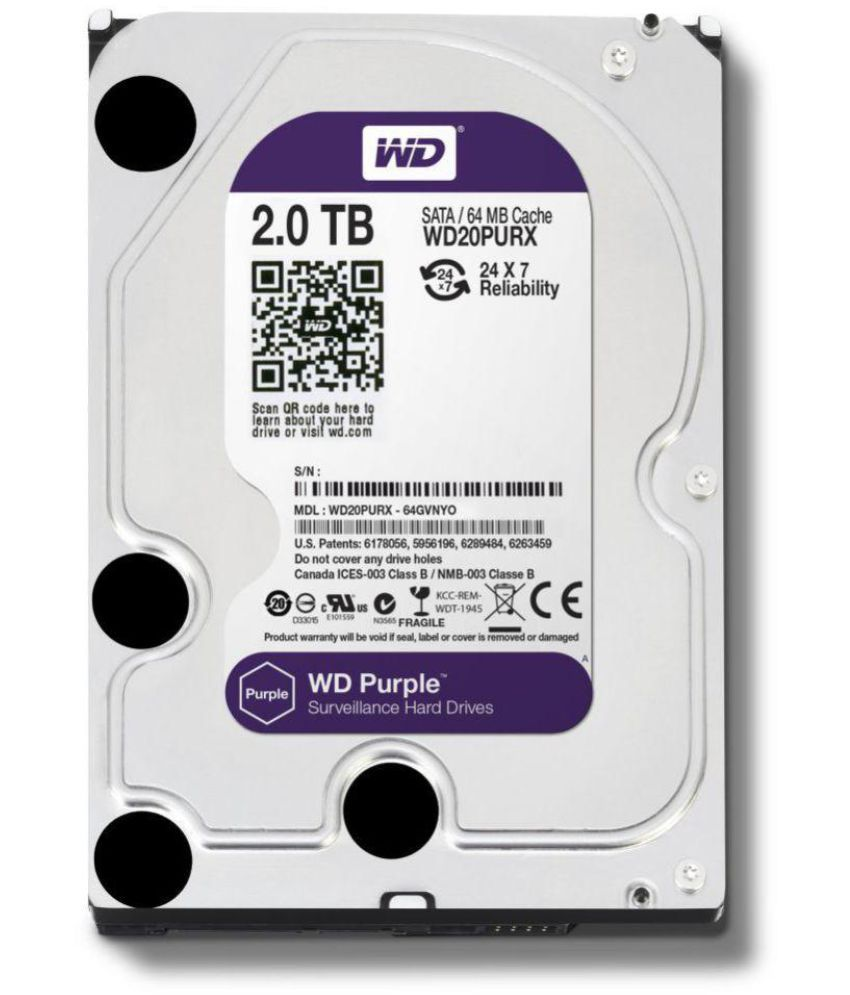 Western Digital WD20PURZ 2 TB Internal Hard Drive Internal Hard drive