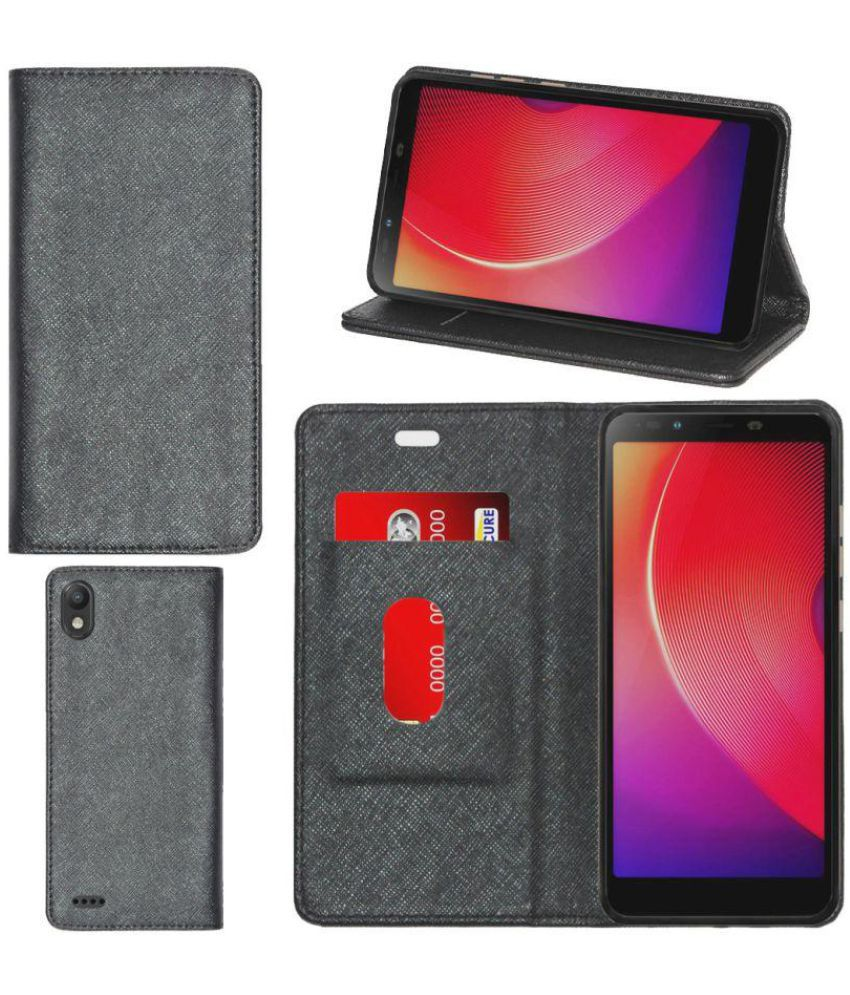 detailed look f8be7 e5cdc Infinix Smart 2 Flip Cover by Gizmofreaks - Black