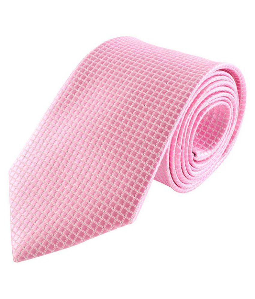 Kamalife Pink Printed Silk Necktie