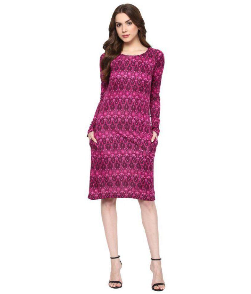 Taaruush Cotton Multi Color Bodycon Dress