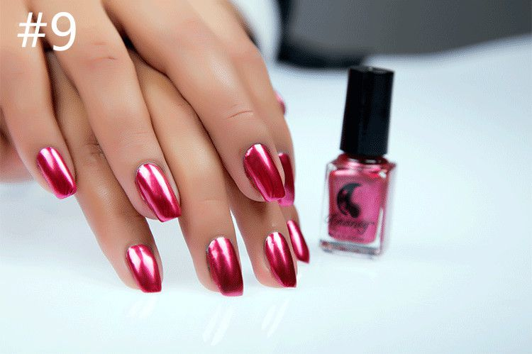Miss Rose Nail Polish #9 As Picure Metallic 30g gm