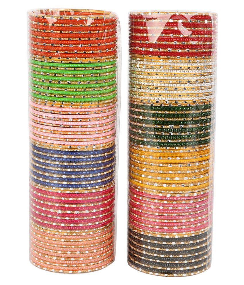 2 Set Of Multi Colour Beautiful Matte Bangle Box For Women