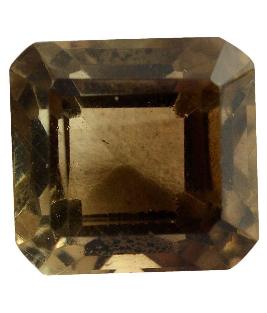 pitliya jewellers 3 -Ratti Self certified Brown Smoky Quartz Semi-precious Gemstone