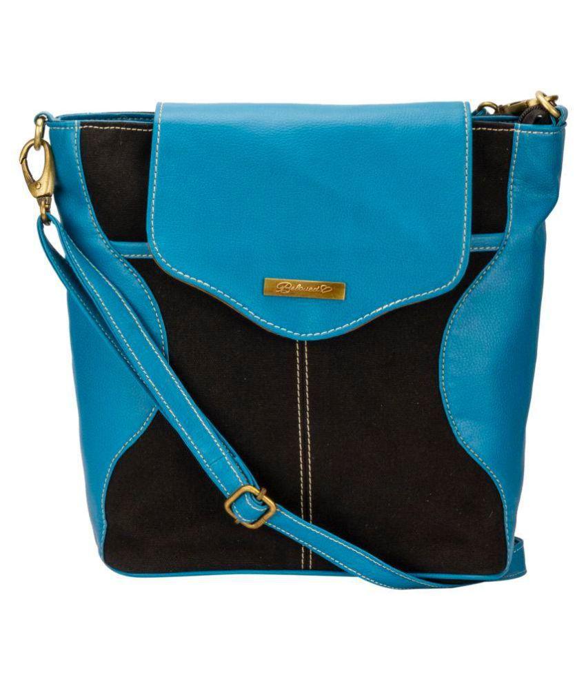 BELOVED Blue Faux Leather Sling Bag