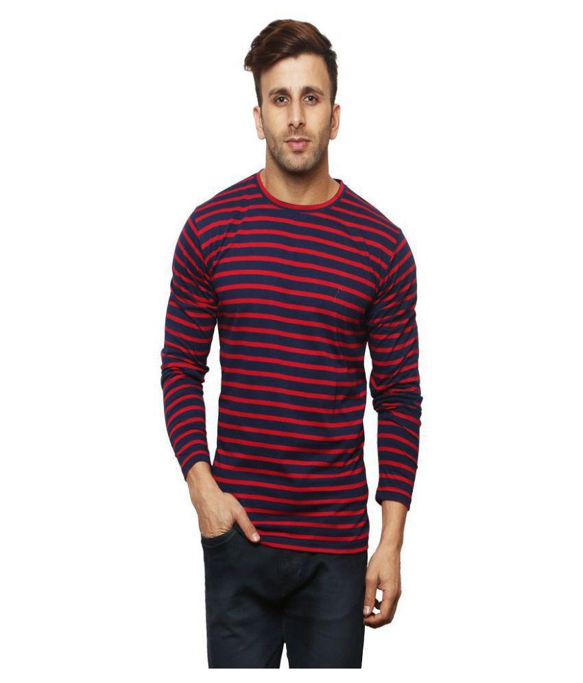 Leana Red Full Sleeve T-Shirt Pack of 1