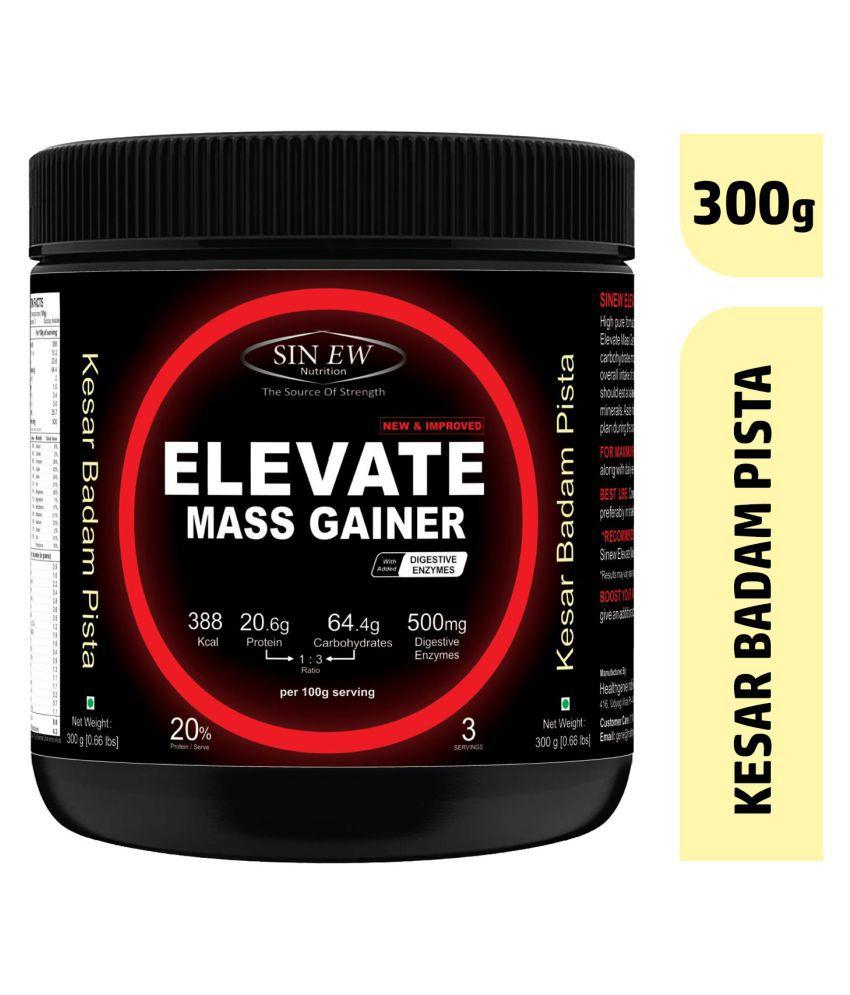 Sinew ElevateMassgainerwith Digestive Enzymes, 300GmKesar Pista Badam 300 gm Mass Gainer Powder