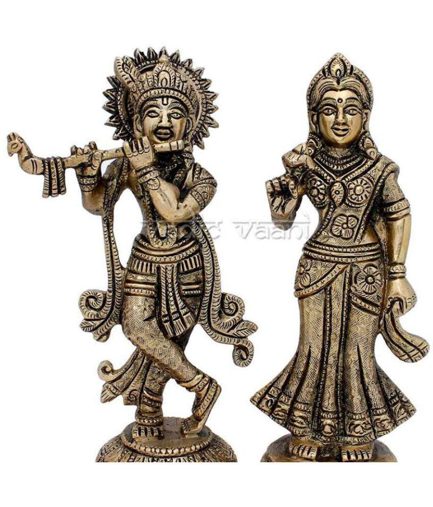 Vedic Vaani Radha Krishan Brass Idol