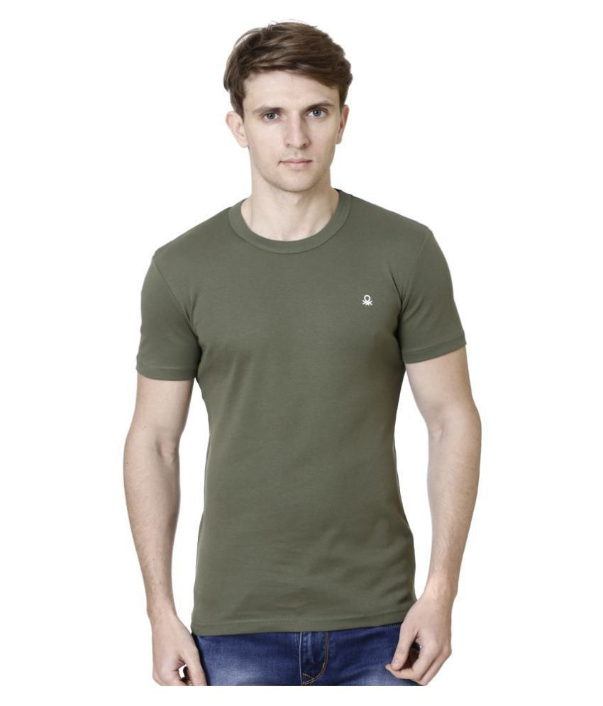 United Colors of Benetton Green Half Sleeve T-Shirt Pack of 1