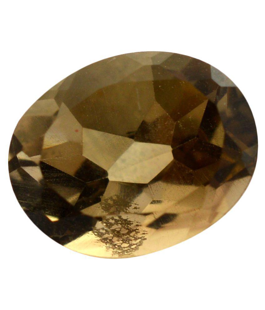 pitliya jewellers 5 -Ratti Self certified Brown Smoky Quartz Semi-precious Gemstone