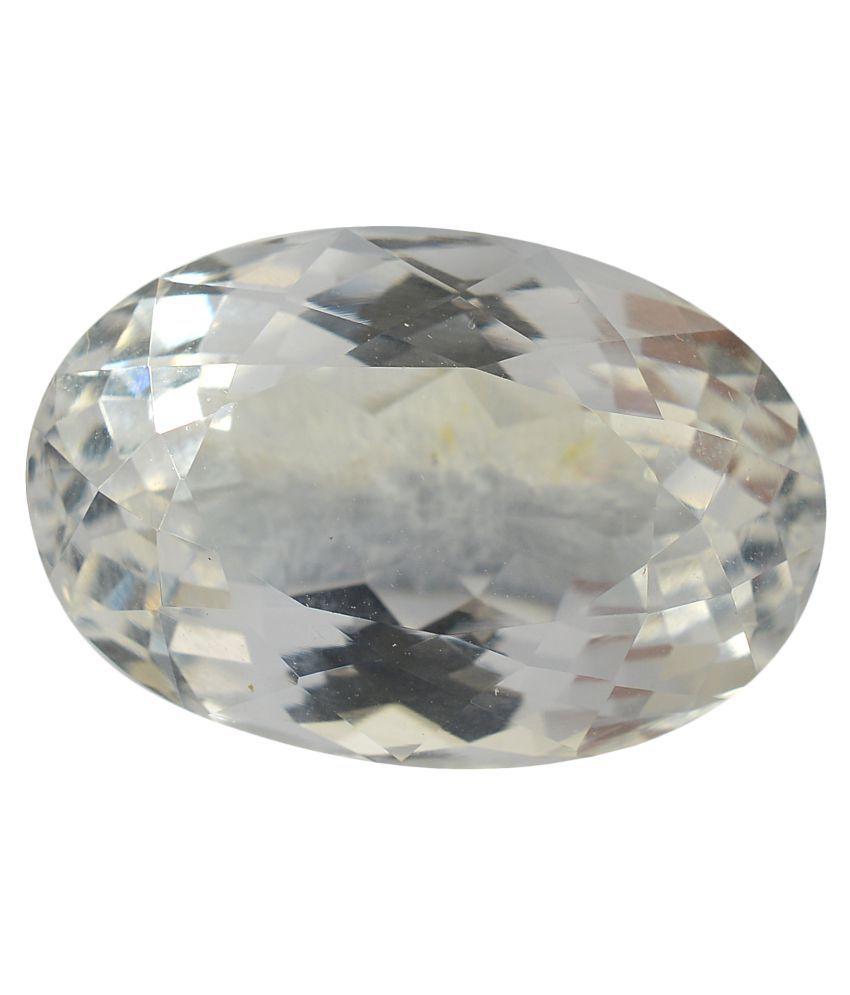 pitliya jewellers 5 -Ratti Self certified White Quartz Semi-precious Gemstone