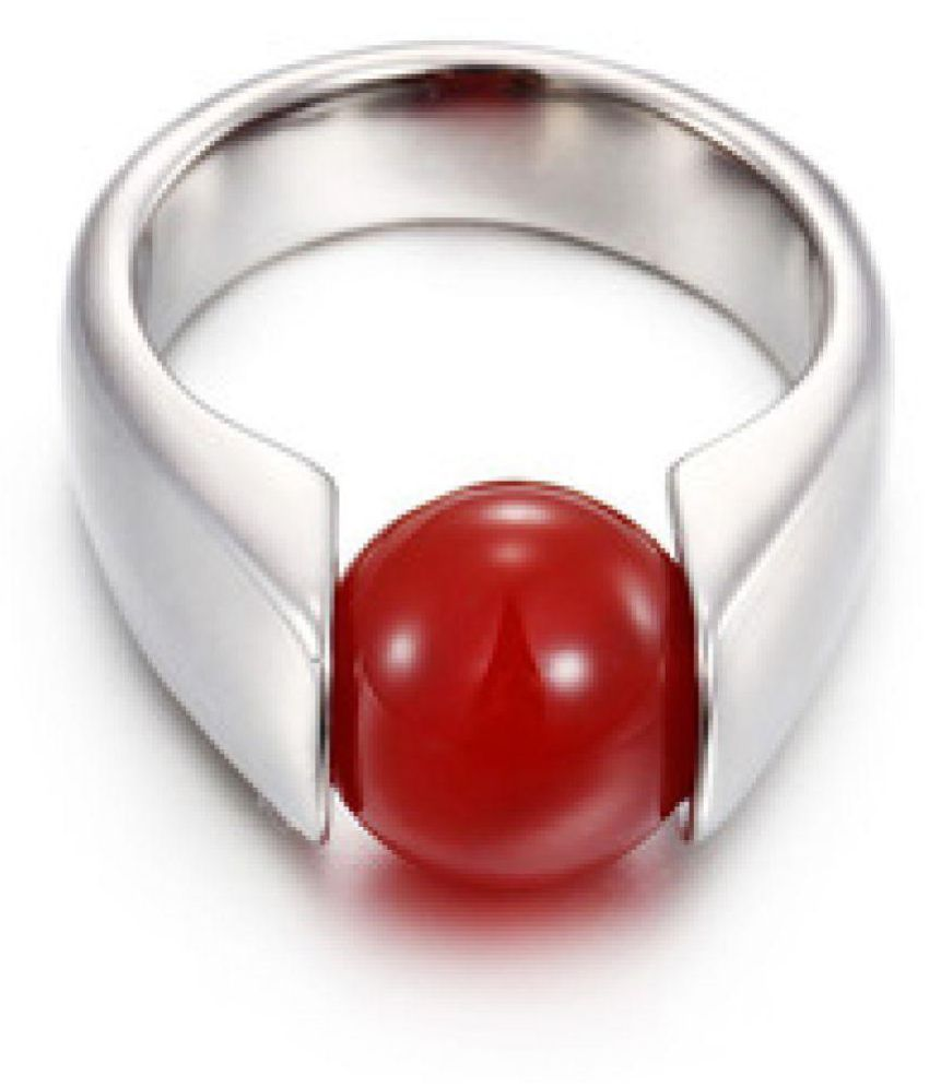 Jaipur Gemstone 18k Silver Coral Ring