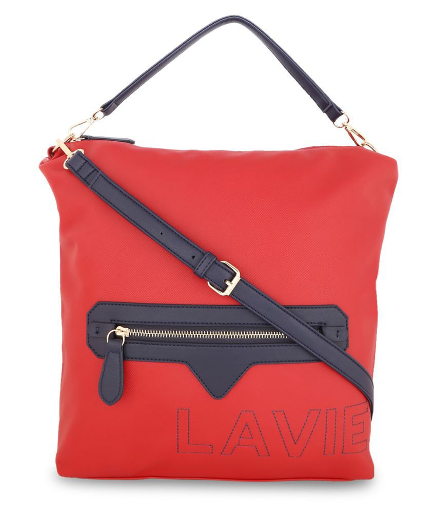 Lavie Red P.U. Hobo Bag