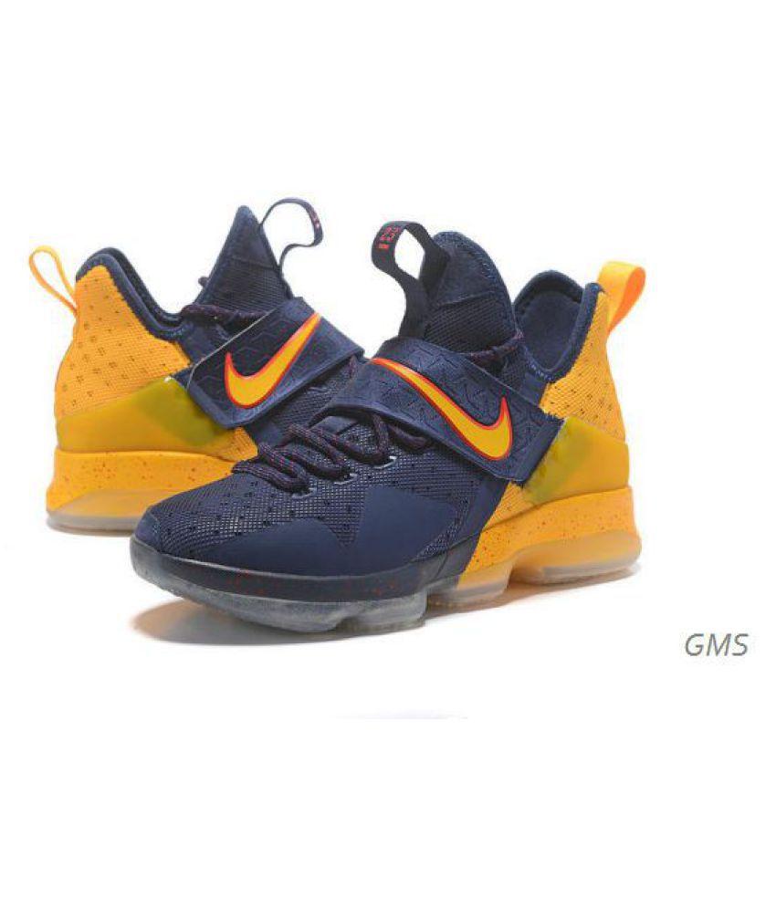 c7215f1c26cdf Nike LeBron 14 Yellow Running Shoes Nike LeBron 14 Yellow Running Shoes ...