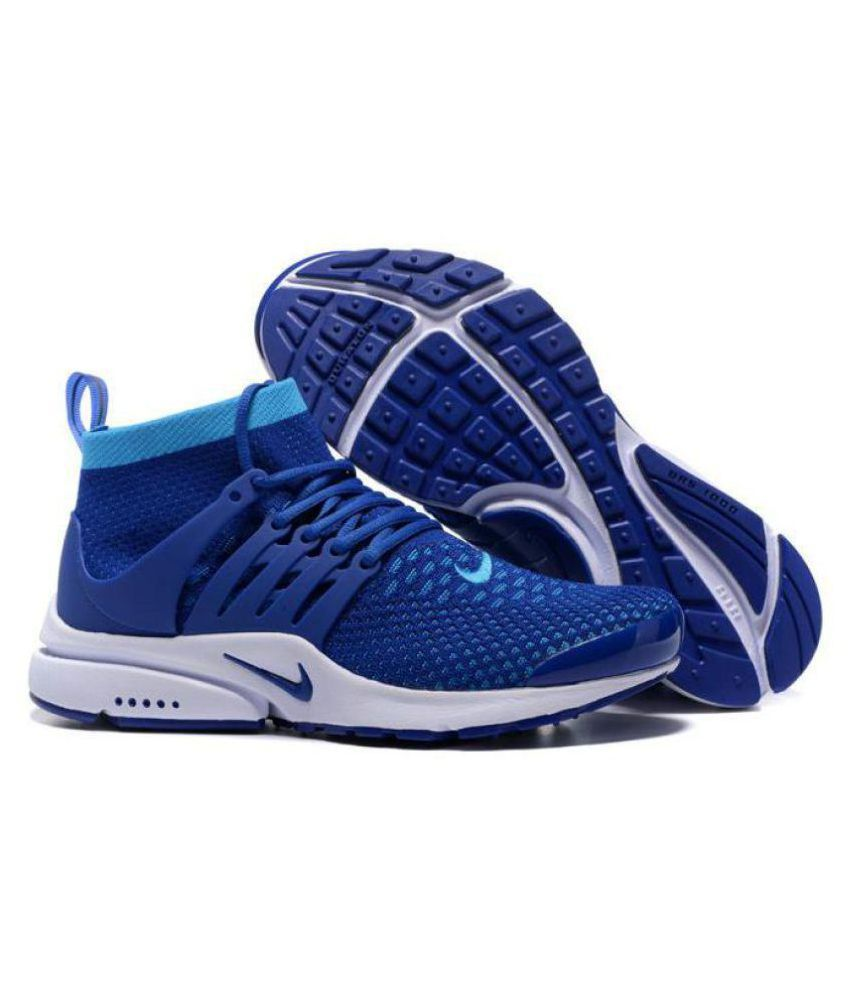 669f5adf32d Nike Air Presto Ultra Flyknit Blue Running Shoes - Buy Nike Air Presto  Ultra Flyknit Blue Running Shoes Online at Best Prices in India on Snapdeal