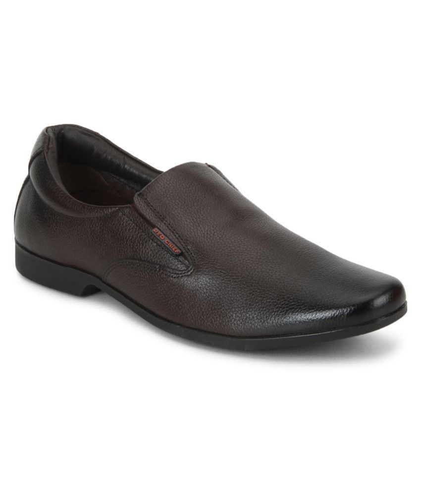Red Chief Office Genuine Leather Brown Formal Shoes