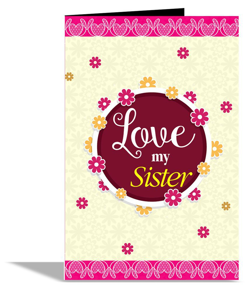 love my sister greeting card buy online at best price in