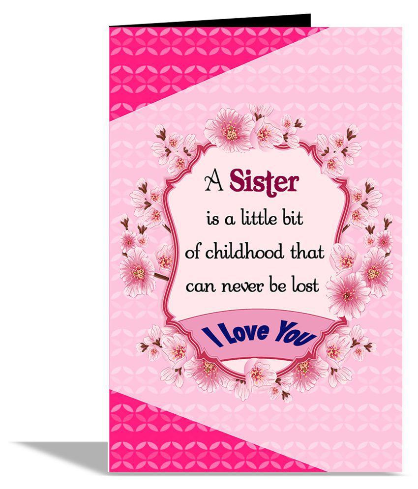 love sister greeting card buy online at best price in