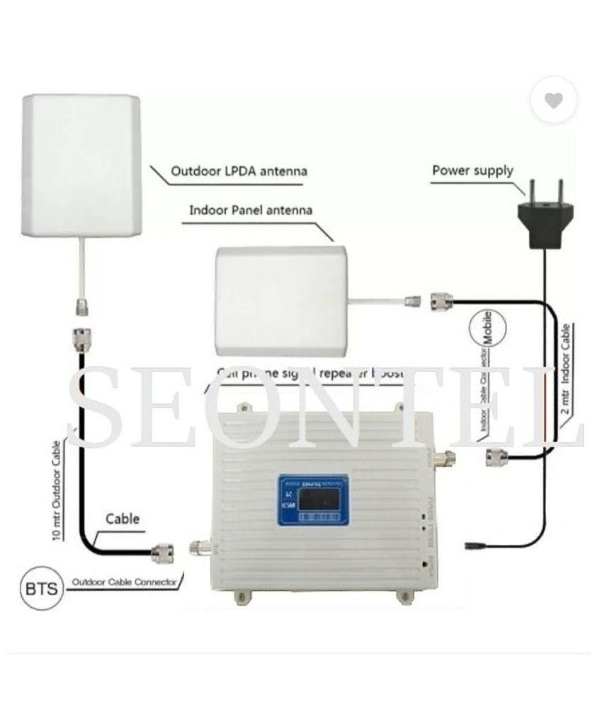 SEONTEL 2g+3g Mobile Signal/Network Booster Complete Kit 750 3G