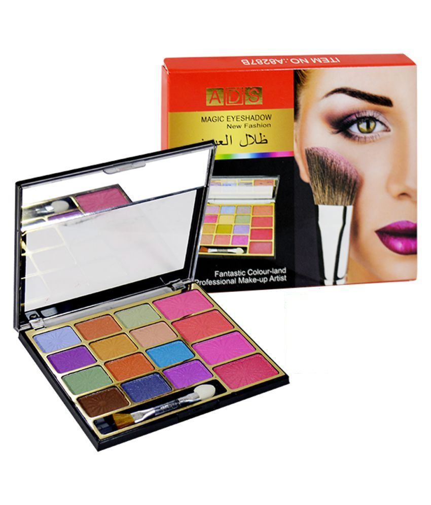 ADS Magic Eyeshadow Palette Free Kajal 6 Shade Colours 16 gm