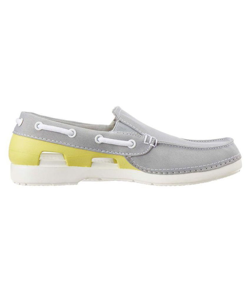 ba3e475c9fdaf0 Crocs Kids Unisex Beach Line Hybrid GS Canvas Boat Shoes Price in ...