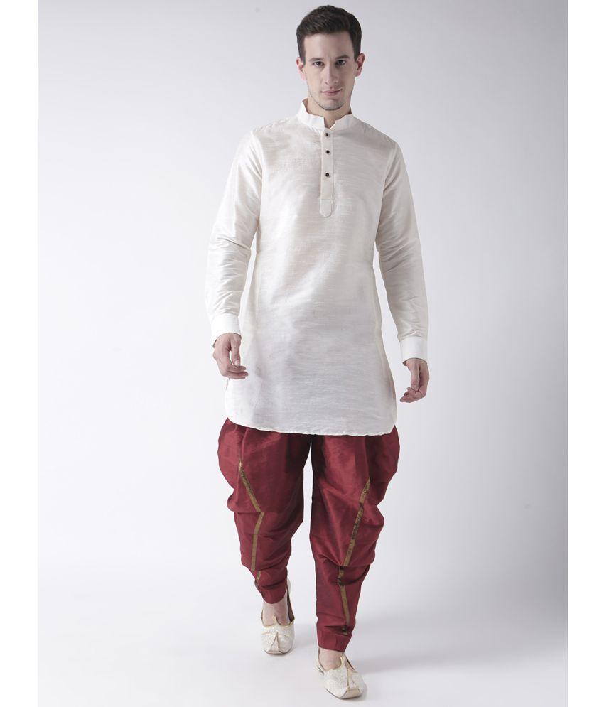 25ef1a9db Deyann White Silk Blend Dhoti Kurta Set - Buy Deyann White Silk Blend Dhoti  Kurta Set Online at Low Price in India - Snapdeal