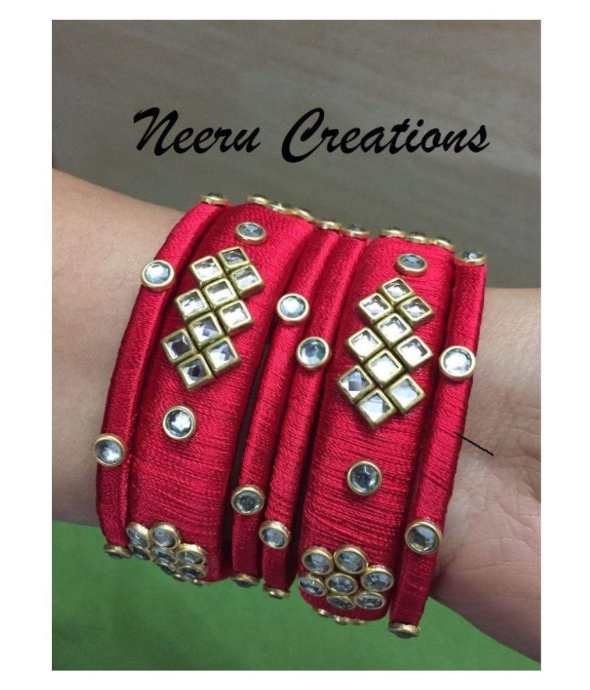 Silk thread new beautiful bangles for girls