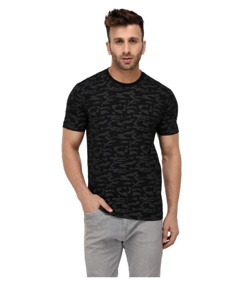 Vivid Bharti Black Half Sleeve T-Shirt Pack of 1