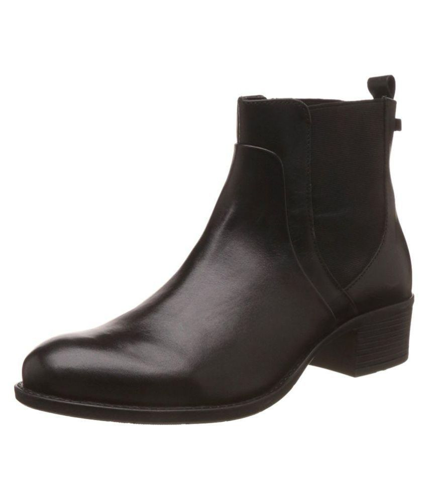 Hush Puppies Black Ankle Length Chelsea