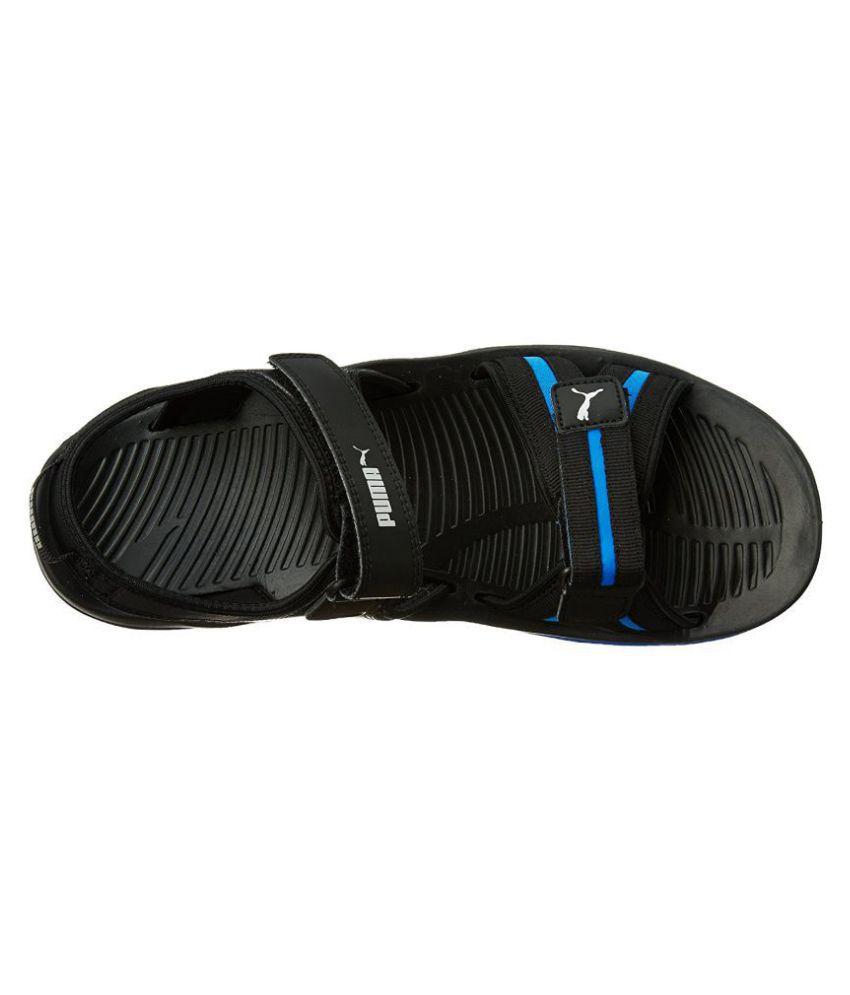 930730fa0da0 Puma Comfy DP Black Canvas Floater Sandals - Buy Puma Comfy DP Black ...