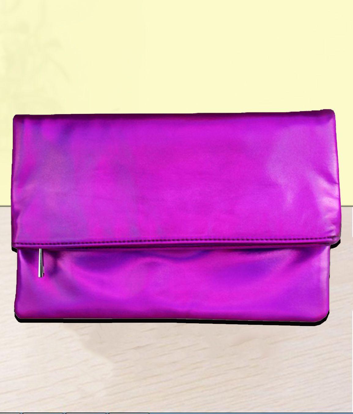London Rag Pink Faux Leather Envelope