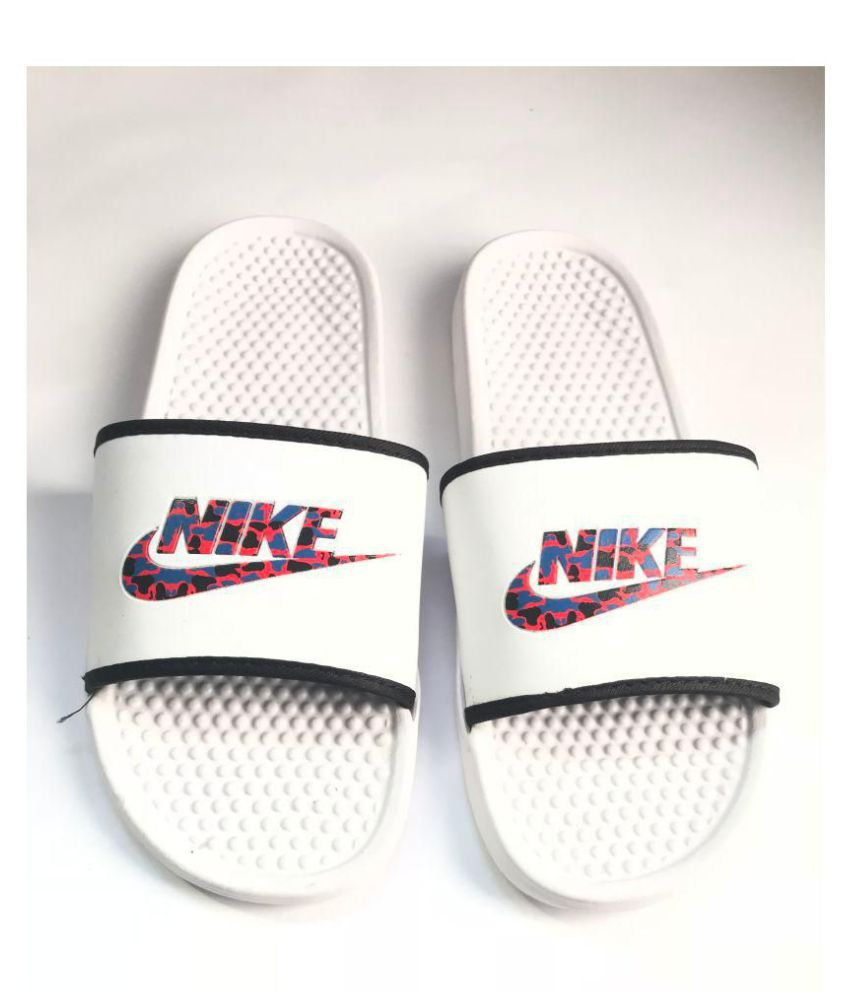 9081f73bc Nike imported White Slide Flip flop Price in India- Buy Nike imported White  Slide Flip flop Online at Snapdeal