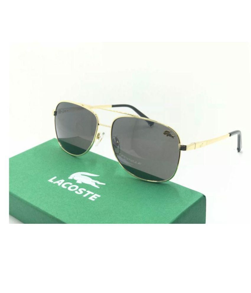 29c77c6daca LACOSTE SUNGLSS Black Aviator Sunglasses ( L007 ) - Buy LACOSTE SUNGLSS Black  Aviator Sunglasses ( L007 ) Online at Low Price - Snapdeal