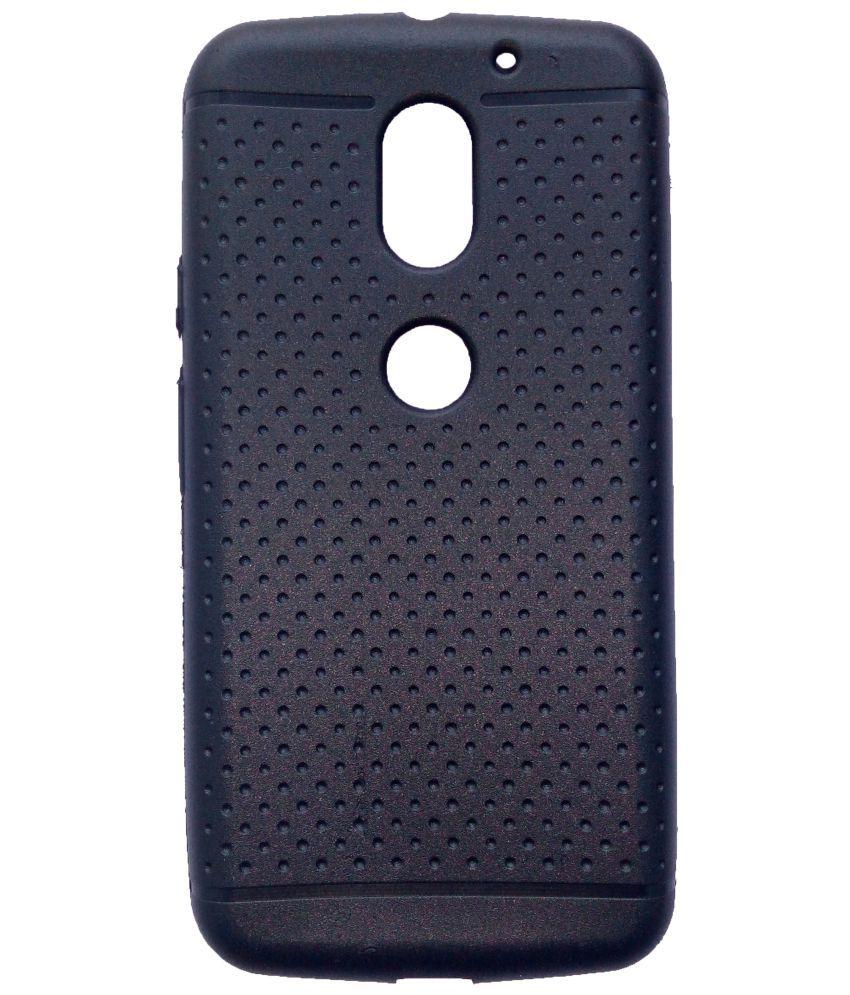 Moto E3 Power Plain Cases CrackerDeal - Black