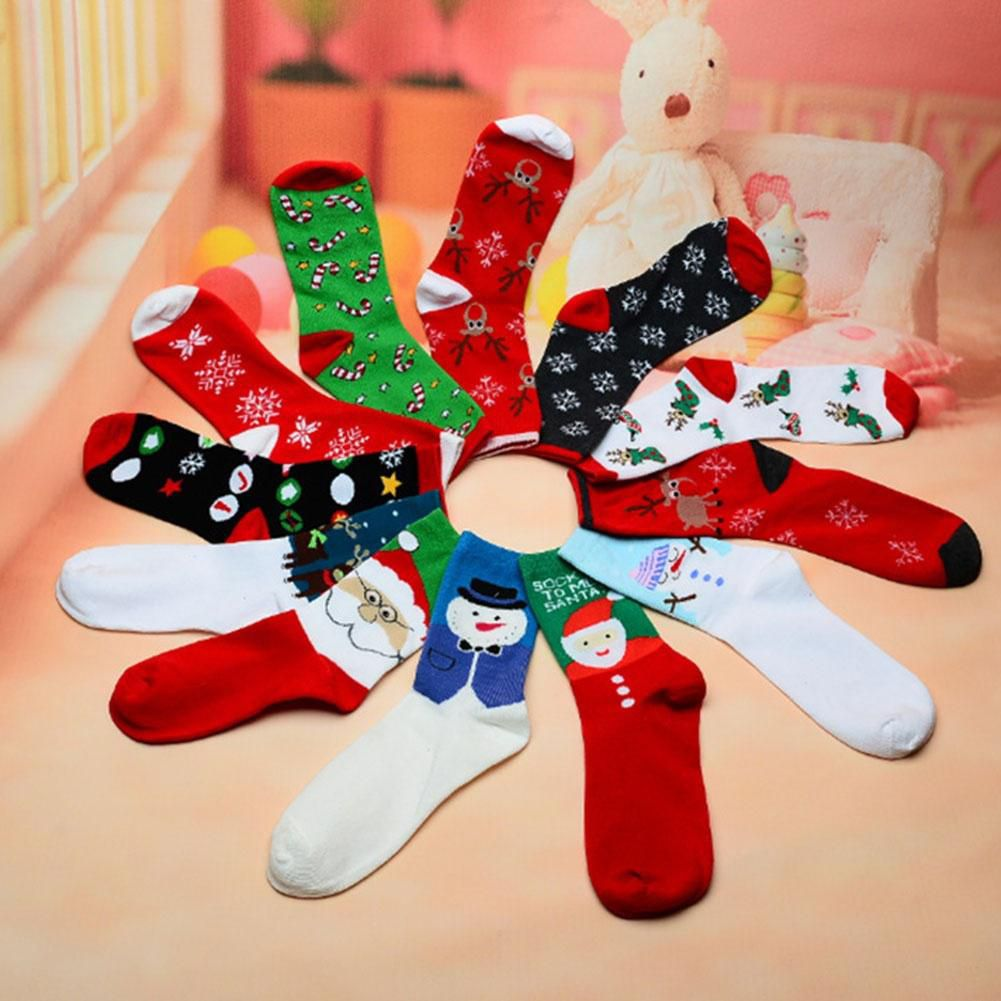 1 Pair Fashion Womans Cotton Socks Element Women Casual Socks Winter Women Cute Socks