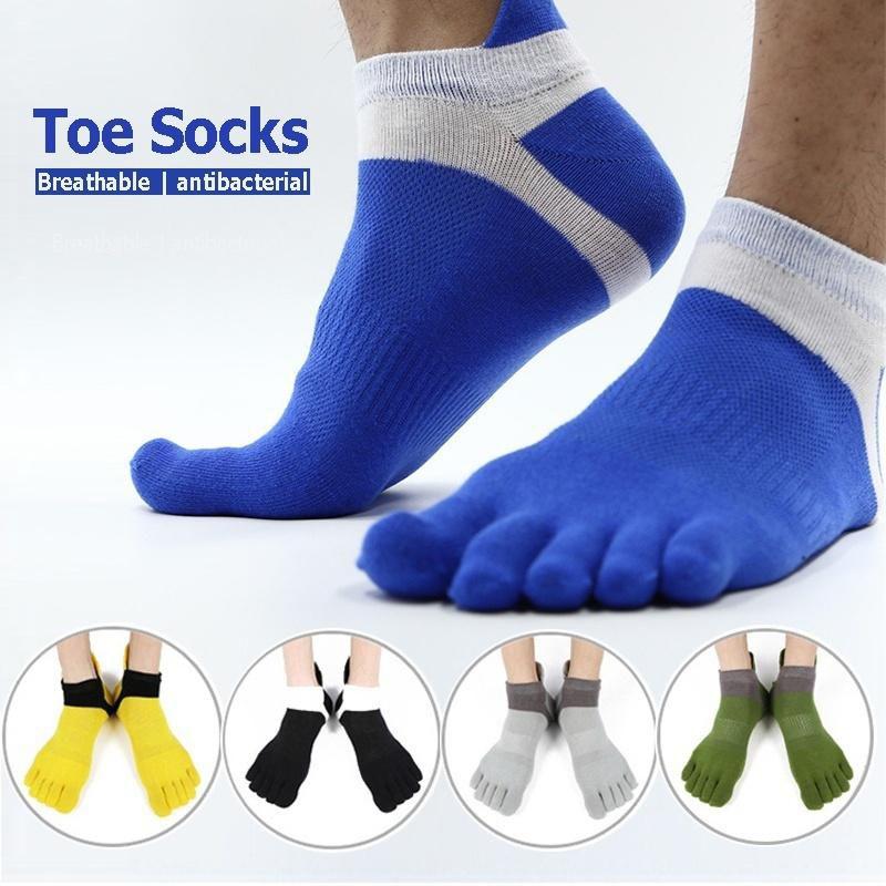 Hot Selling Mens 5 Toe Socks Cotton Breathable Finger Sports Socks