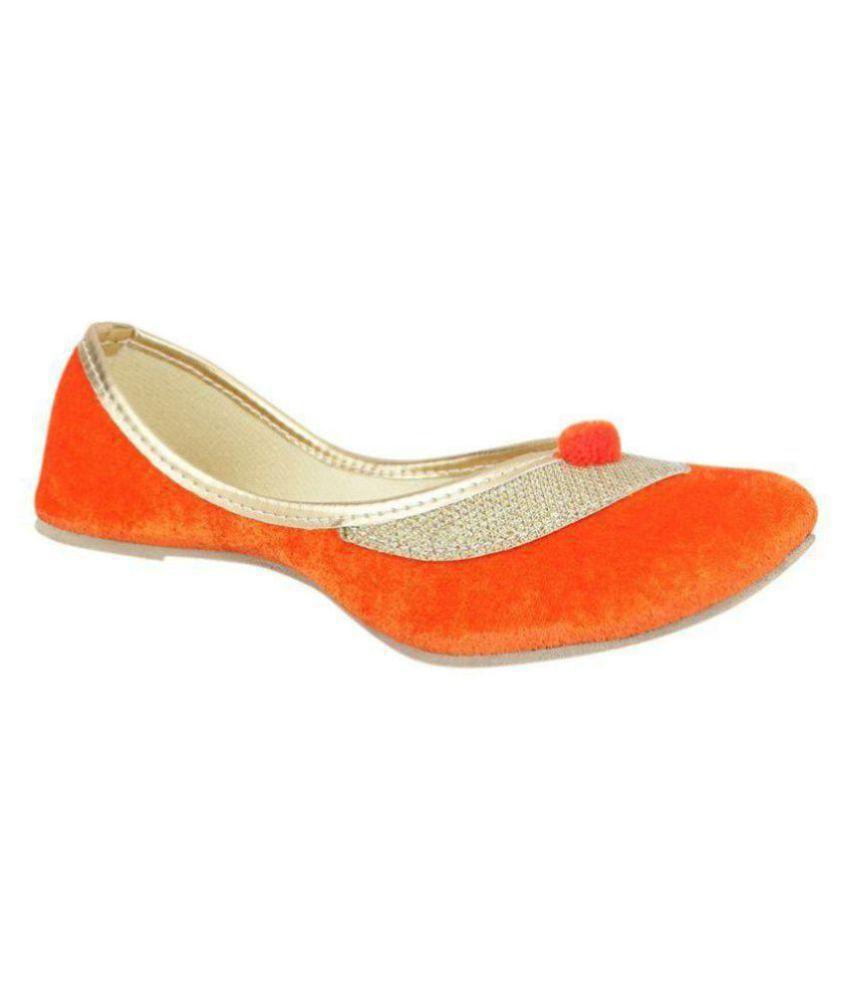 RAJSAHI Orange Ethnic Footwear