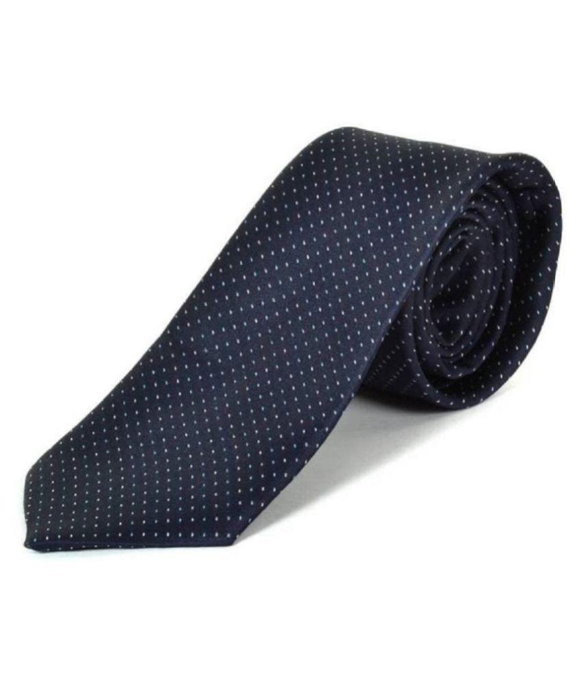 Wamson Blue Dots Jacquard Necktie