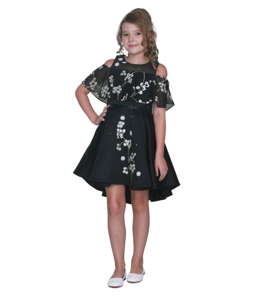 Cutecumber Girls Partywear Satin & Net Dress