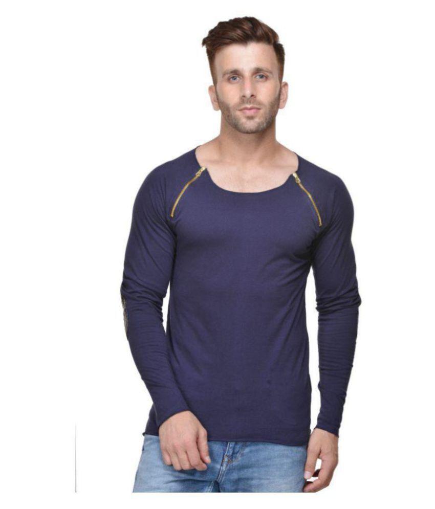 Acomharc Inc Navy Full Sleeve T-Shirt