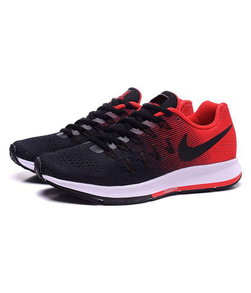 eb75a8bcf668 Nike 1 Pegasus 33 Black Red Black Running Shoes - Buy Nike 1 Pegasus 33 Black  Red Black Running Shoes Online at Best Prices in India on Snapdeal
