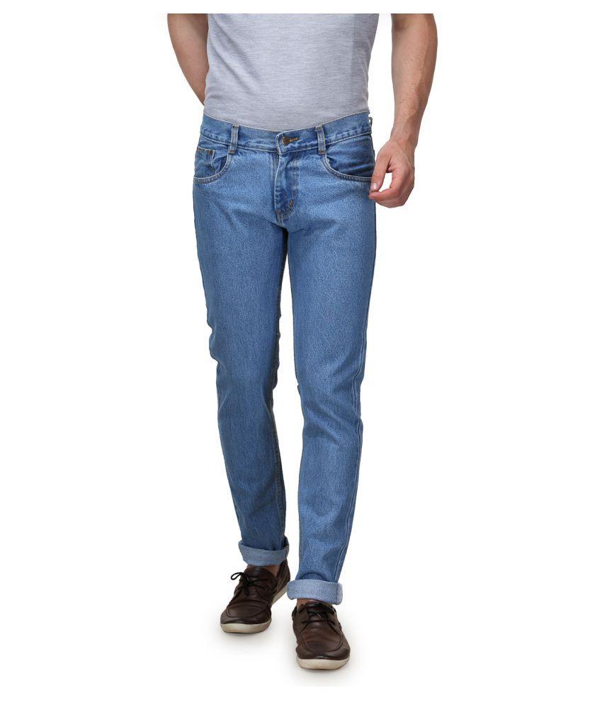 Randier Light Blue Regular Fit Jeans