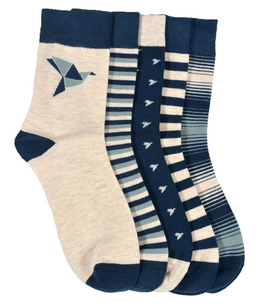 VINENZIA 5 pair cotton unisex ankle length socks