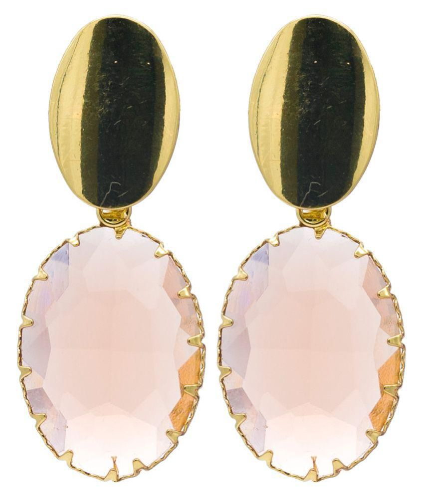 KIYARA Kiyara Accessories Fancy fashion jewellery earring with cut glass and gold plating for women and girls 2018. Alloy, Glass Drop Earring