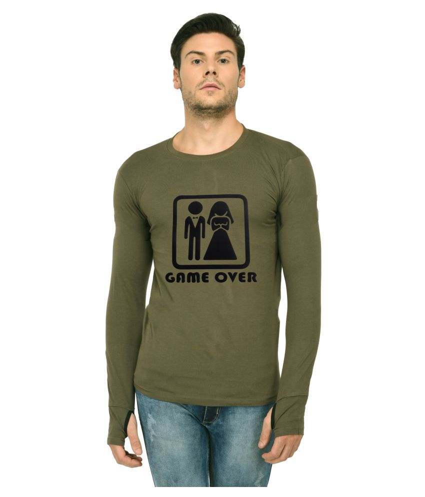 Trends Tower Green Full Sleeve T-Shirt