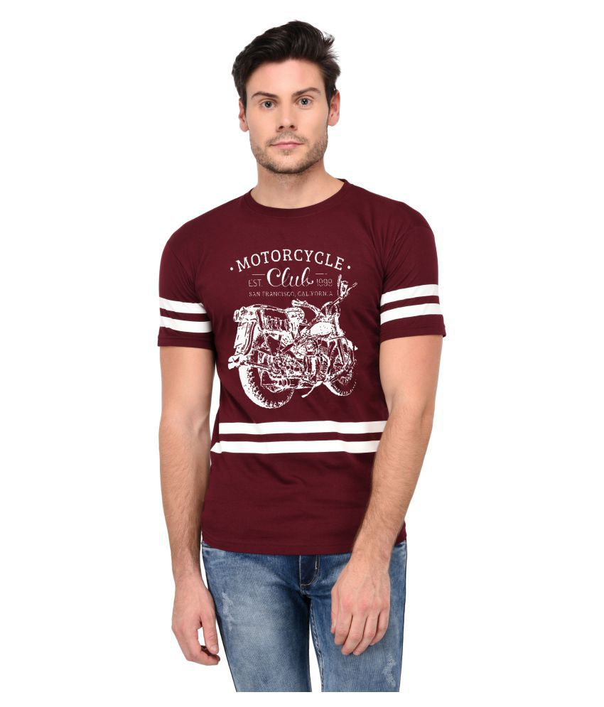 Trends Tower Maroon Half Sleeve T-Shirt
