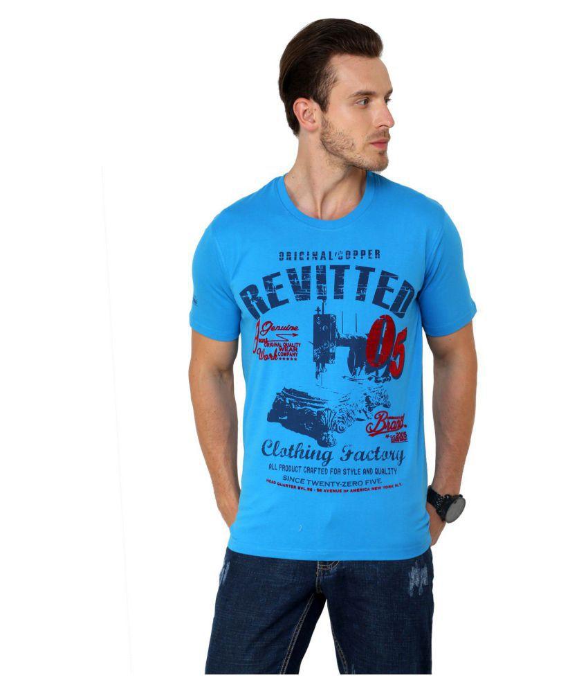 Crimsoune Club Blue Half Sleeve T-Shirt
