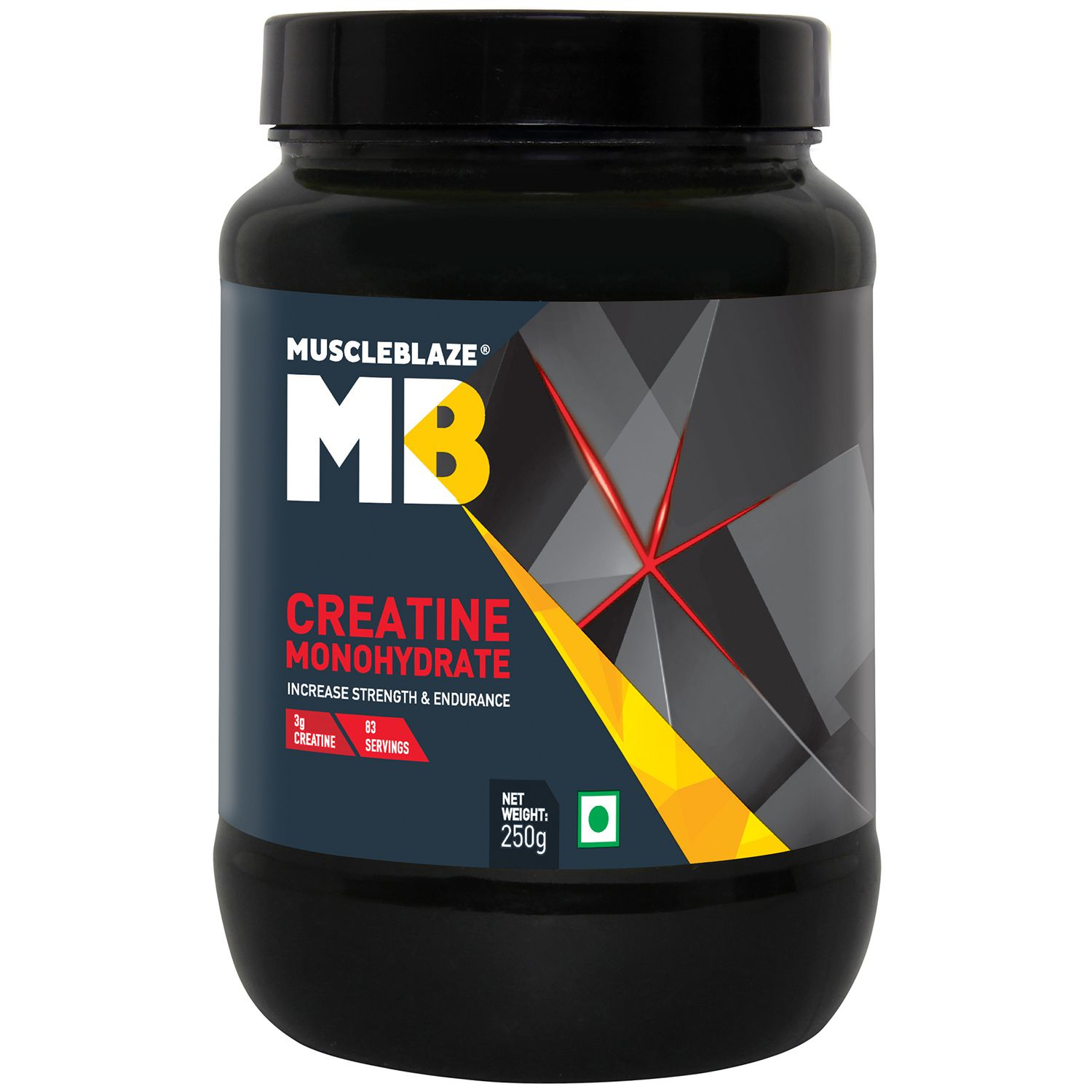 MuscleBlaze Monohyrate Creatine, Improves Performance,0.55 lb/  250 g, 83 Servings (Unflavoured)